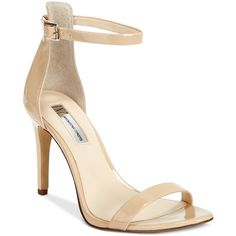 Inc International Concepts Women's Roriee Two-Piece Sandals, ($80) ❤ liked on Polyvore featuring shoes, sandals, summer nude, nude ankle strap shoes, ankle strap shoes, ankle tie sandals, summer shoes and ankle wrap shoes