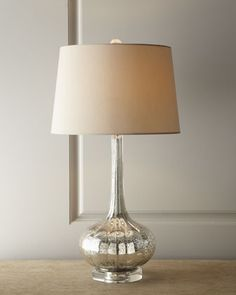 Antiqued Glass Table Lamp - Neiman Marcus