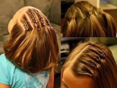 Niñas Melenas, Cabello Corto Niñas, Peinados Sin, Peinados Niñas Cabello Corto, Peinados Para Niñas Faciles, Cabello Niñas, Peinados Peques,