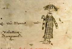 Funny medieval doodles With their wild hair and frantic gaze, these doodled men look like fools. They are waving as if to seek contact with ...
