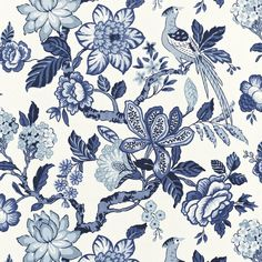 Schumacher Fabric at discount prices. Schumacher has a love for big and bold patterns. is your authorized dealer for Schumacher Fabric. Motif Floral, Floral Fabric, Linen Fabric, Navy Fabric, Fabric Patterns, Print Patterns, Floral Patterns, Fabric Design, Pattern Design
