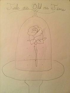 Rose-Beauty And The Beast Beauty And The Beast, Amazing Art, Rose, Drawings, Pink, Roses, Sketch, Portrait, Drawing