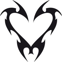 Tribal Heart Tattoo Design