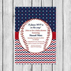 Baseball Baby Shower Invitation Baby Shower by DesignedbyGeorgette
