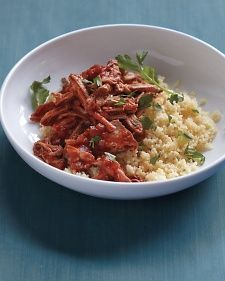 Slow cooker Italian Braised Pork and Cous Cous.