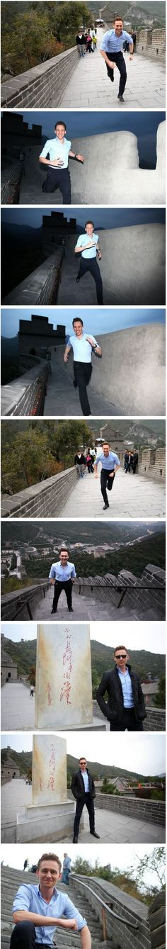 Tom at the Great Wall of China! (thank you o great compiler of pics)