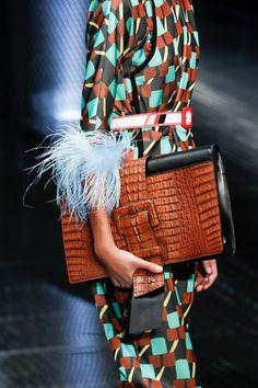 Introducing the Prada Spring/Summer 2017 Runway Bag Collection. Prada has collaborated with American film director David O. Fashion 2017, Fashion Bags, Fashion Show, Fashion Accessories, Fashion Jewelry, Luxury Fashion, Vogue, Cristian Dior, Ethno Style