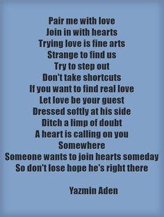 Finding love  Poetryunmasked.wordpress.com