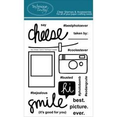 Technique Tuesday Clear Stamps SAY CHEESE Teri Anderson