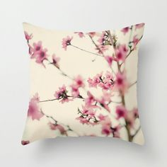 Pillow Case  Cherry Blossom Tree  Nature Home Decor by DreamyPhoto