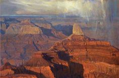 Gordon Brown paints fiery landscapes of high mountain deserts and majestic seascapes