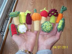 Vegetable Finger Puppets-