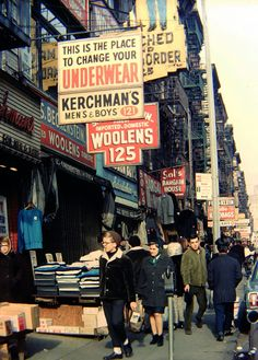 New York City, Lower East Side, 1960s