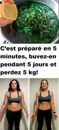 C'est préparé en 5 minutes, buvez-en pendant 5 jours et perdez 5 kg!