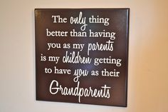 Quote Sign for Grandparents or Parents by CRSWoodDesigns on Etsy
