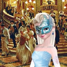 Elsa masquerade ^^Oh! This really pretty! Whoever edited this did a great job!!