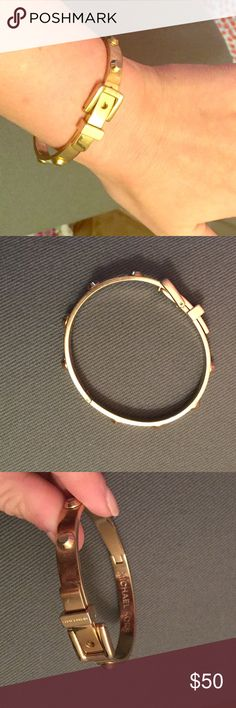 Michael Kors Gold Buckle Bracelet The clasp is a little flimsy but still super cute and goes with everything! Michael Kors Jewelry Bracelets