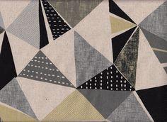 Tissus motifs graphiques, mosaïque gris est une création orginale de kiseki sur DaWanda