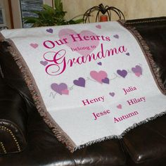 Personalized Our Hearts Belong To... Tapestry - Gifts Happen Here