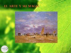 """EUGÈNE BOUDIN: """"Muelle en Deauville"""" - 1869, Paris, Musée d'Orsay. Boudin fue uno de los primeros paisajistas franceses aficionados al trabajo """"au plen air"""", y está ampliamente considerado como una de las mayores influencias para los primeros pintores impresionistas. Cuando se estableció en Saint-Siméon en 1862, muchos jóvenes pintores se influenciaron con sus obras, fundándose un grupo, la llamada """"Escuela de Saint-Siméon"""", que es uno de los orígenes del impresionismo"""