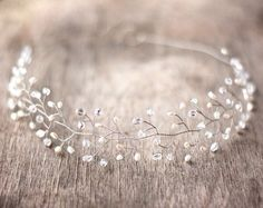 jewels crystal quartz crystal headpiece crystal silver hair band stones bridesmaid headband hipster wedding wedding accessories PLL Ice Ball