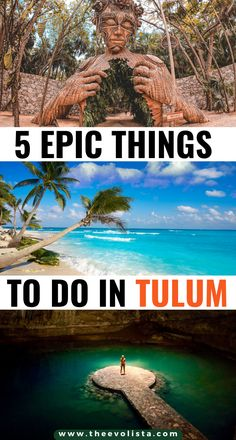 5 Essential Things to Do in Tulum | Bucket list places in Tulum | Best beaches in Tulum | Tips and tricks for Tulum travelers | Best activities in Tulum | Tulum travel guide | Prettiest places in Tulum | Best Tulum photo spots | Instagrammable Tulum | Where to stay in Tulum | Best cenotes to visit Tulum | Best restaurants in Tulum | Unique things to do in Tulum vacation | Tulum travel tips | What to see in Tulum | When to visit Tulum | Best Tulum travel itinerary #tulum #mexico #traveltips