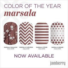 Have you tried Jamberry nail wrap color if the year? What do you think of Marsala?