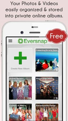 Brilliant! Capture all your friends photos & videos into one collaborative album! Great for #Wedding #Events #Travel #Family