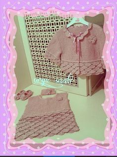 A personal favorite from my Etsy shop https://www.etsy.com/listing/264587069/baby-dress-jacket-set-pink-crochet-set