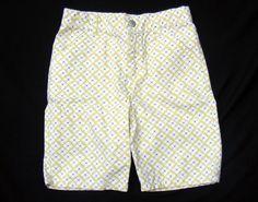 GYMBOREE Bermuda Shorts, Lime Green Flower Pattern Greek Isle 1005 Cotton, Sz 8 #Gymboree