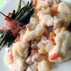 Bacon Chicken and Dumplings | How do you make chicken and dumplings even better? You add bacon. It's always bacon.