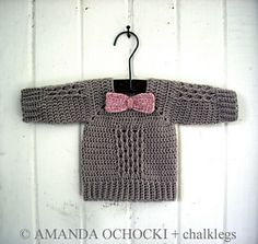 So sweet, crochet sweater.