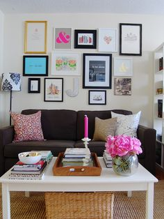 Furniture, Foxy Bookcase Room Dividers Also Various Books On The Table With Flower In A Vase Also Couch With Cushion And Various Picture Frame On The Wall: The Captivating Bookcase Room Dividers as your Smart and Most Flexible Room Divider