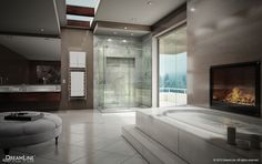 DreamLine Showers: Ultimate Shower Doors now available in Home Depot Marble Bathrooms, Luxury Bathrooms, Modern Bathrooms, My Dream Home, Dream Homes, Dream Bath, Parade Of Homes, Shower Doors, Amazing Bathrooms