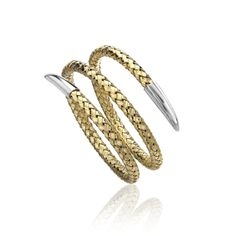Fifth+Season+by+Roberto+Coin+Double+twist+lucido+bracelet    Double twist lucido bracelet in white and yellow. Fifth Season by Roberto Coin - In Sterling Silver with special finishes in Rose and Yellow gold plating or Black Rhodium. All items featuring the Roberto Coin signature hidden ruby.  Ref. No.05-36-004