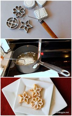 Learn how to make delicious delicate rosette cookies for a variety of cookies for your Christmas cookie tray. We love these cookies. Holiday Cookies, Holiday Treats, Christmas Treats, Holiday Recipes, Christmas Recipes, Summer Cookies, Valentine Cookies, Easter Cookies, Birthday Cookies