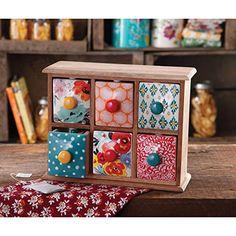 The Pioneer Woman Flea Market 6-Drawer Spice/Tea Box