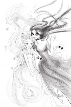 Macaria and Melinoe, daughters of Hades and Persephone