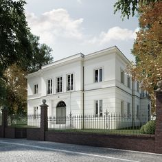 one part of the house. Add not flat roof and a circlular piece and more on side .one part of the house. Add not flat roof and a circlular piece and more on side of house The Roof House Save Continues in Berlin Danish Sigurd Larsen . Architecture Classique, Neoclassical Architecture, Roof Architecture, Classic Architecture, Roof Design, Facade Design, Exterior Design, Flat Roof House, Facade House