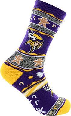 2016 Ugly Christmas Xmas Holiday Socks  Minnesota Vikings Large >>> Check out this great product.