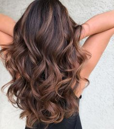Long Wavy Ash-Brown Balayage - 20 Light Brown Hair Color Ideas for Your New Look - The Trending Hairstyle Brown Hair Shades, Brown Hair With Blonde Highlights, Brown Hair Balayage, Brown Ombre Hair, Balayage Brunette, Light Brown Hair, Hair Color Balayage, Brown Hair Colors, Hair Highlights