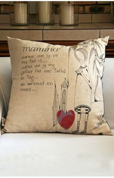 Mamma Afrikaans Cushion 60x60cm from The Pickled Fish in South Africa