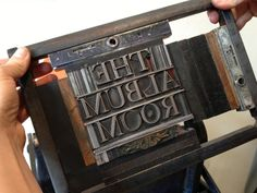 Ellie Noelke of The Arm, a letterpress shop in Williamsburg, helps us create some fabulous notecards and signs!