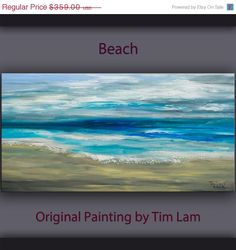 SALE Original abstract sea art acrylic painting beach by elseart