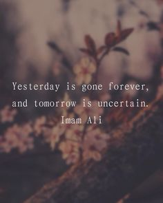 """217 Likes, 2 Comments - Imam Ali (@imamali__) on Instagram: """"Yesterday is gone forever, and tomorrow is uncertain."""" -Imam Ali (AS) #imamali #ahlulbayt…"""""""