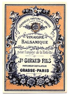 Vintage Clip Art - Lovely French Label  http://graphicsfairy.blogspot.com/search?q=french+label
