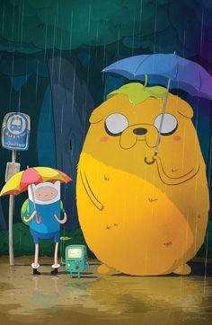 Sigue siendo uno de nuestros mashup favoritos.   Hora de Aventuras + Totoro.