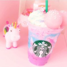 UNICORN!Who's tried the new @starbucks unicorn frap!!?✨After seeing Vainey's @stylish_page_vianey I think I need to get me one beauties!✨
