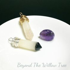Amethyst tipped keepsake crystal - With your choice of personal inclusions