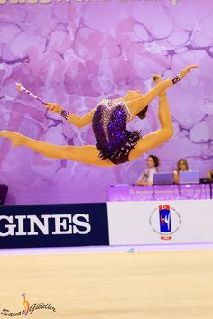 Melitina Staniouta, Belarus, World Championships Izmir 2014. She won a bronze medal for her ball routine.